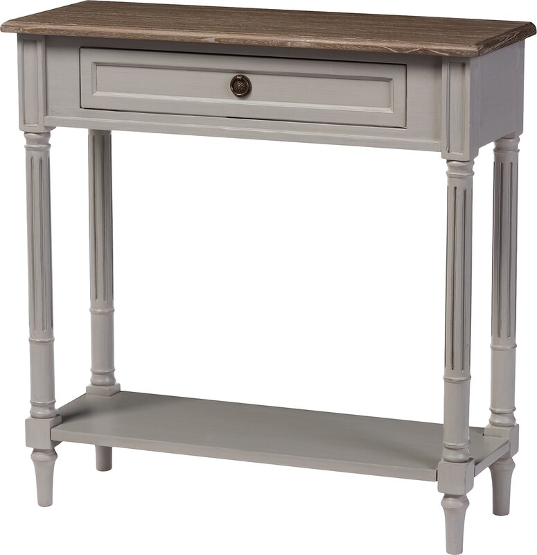 French Console Table lark manor sevan french provincial style console table & reviews