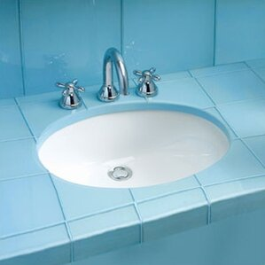 Dantesca Ceramic Oval Undermount Bathroom Sink With Overflow