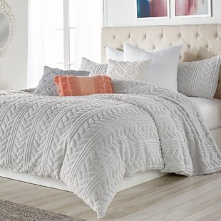Adamite Cable Knit Sherpa Comforter Set