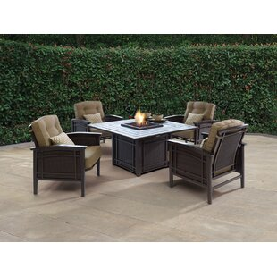 Cort Fire Pit Set Seating Group With Cushions