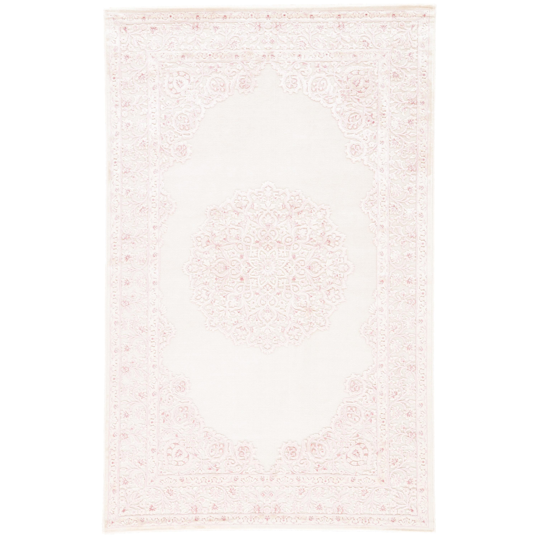 Bungalow Rose Fontanne Loom Ivory Baby Pink Area Rug Reviews Wayfair