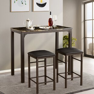 Tappahannock 3 Piece Counter Height Dining Set