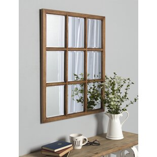 Leavens Windowpane Wood Wall Mirror  sc 1 st  Wayfair & Window Mirrors Youu0027ll Love | Wayfair