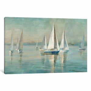 Sailboats at Sunrise Canvas Print