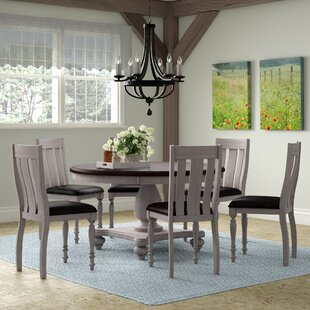 Mixon 7 Piece Solid Wood Dining Set