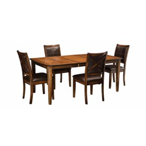 Algoma 5 Piece Dining Set by Loon Peak