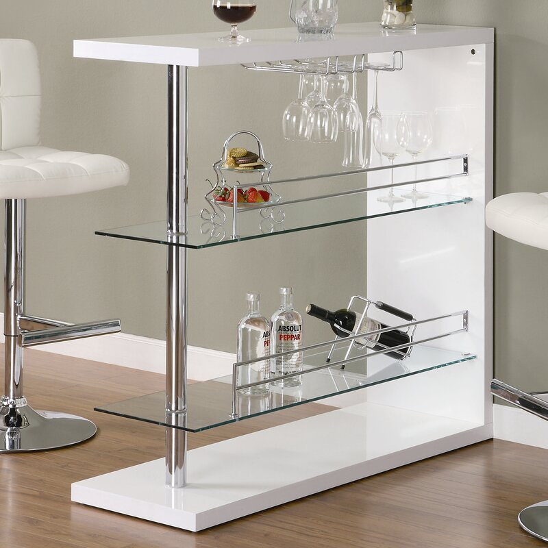 Glass Pub Table Part - 44: Wayfair.com
