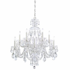 sterling 12light crystal chandelier - Schonbek Chandelier
