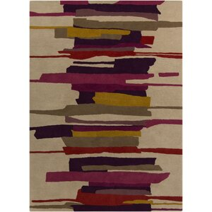 Harlequin Tan Abstract Area Rug