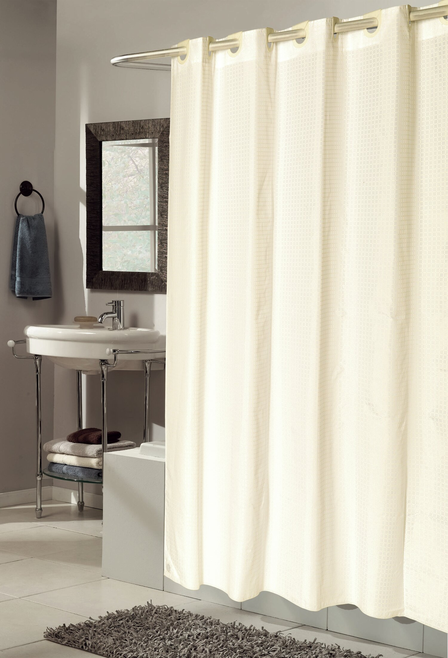 Ben And Jonah EZ ONR Checks Shower Curtain
