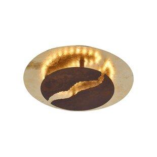 Nevis 1-Light LED Semi Flush Mount by Paul Neuhaus