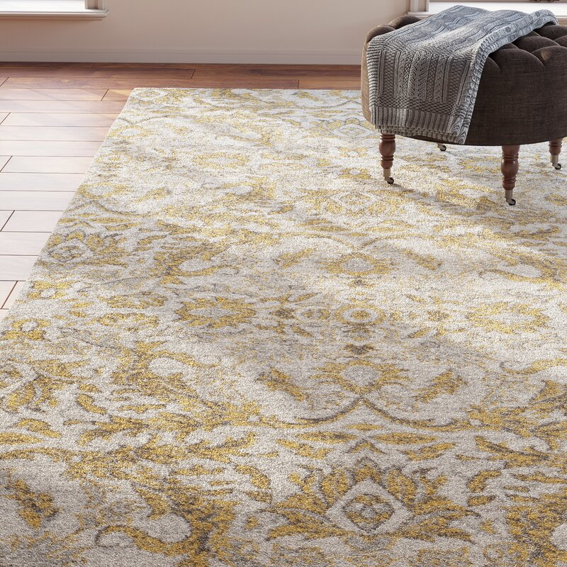 Sagebrush Ivory Gold Area Rug Amp Reviews Birch Lane