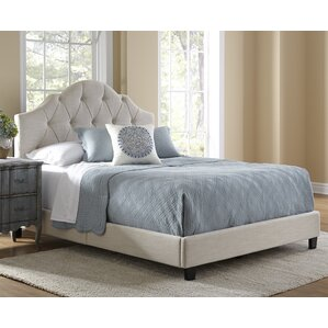 anselmo queen upholstered panel bed - Tufted Bed Frame Queen