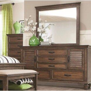 Solid Oak Dresser With Mirror Wayfair