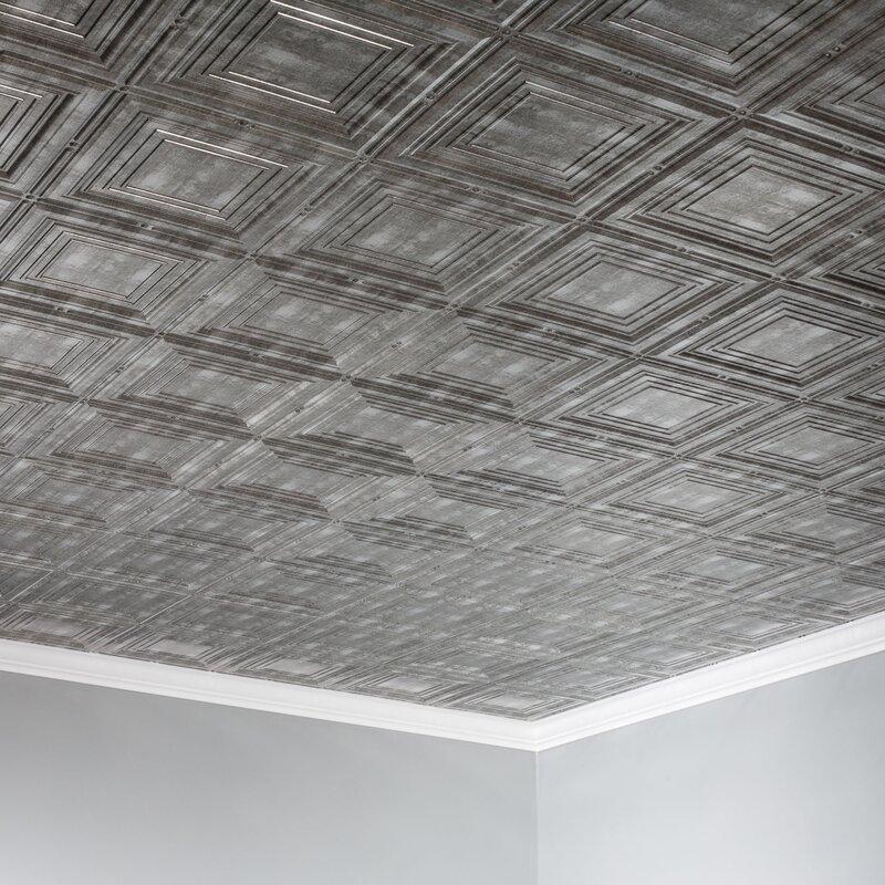 Glue Up Ceiling Tile In Cross Hatch