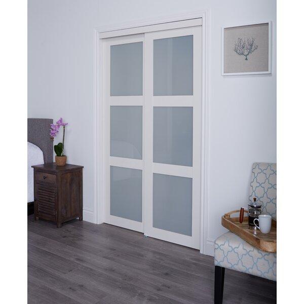 Erias home designs baldarassario mdf 2 panel painted - Installing sliding doors interior ...