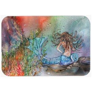 Brunette Mermaid Water Fantasy Kitchen/Bath Mat