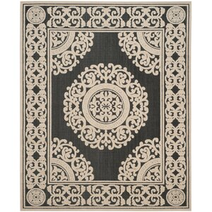 Prompton Black/Cream Area Rug