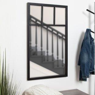 Adelfio 4 Windowpane Wood Wall Mirror