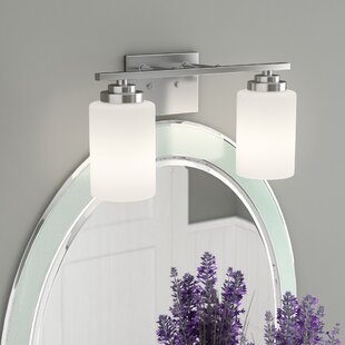 Brushed nickel bathroom vanity lighting youll love wayfair save aloadofball Image collections