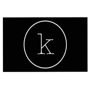 'Simple Black Monogram' Doormat