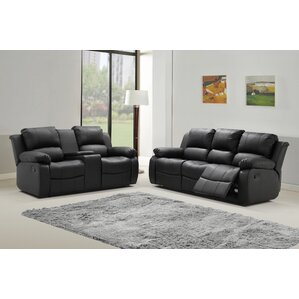 Phoenix 2 Piece Leather Living Room Set by Living In Style