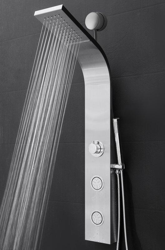 Nice Temperature Control Rain Shower Head Shower Panel   Includes Rough In Valve