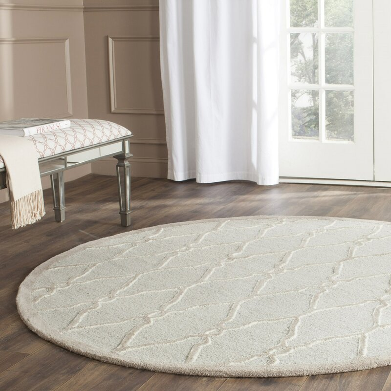 martins hand tufted wool light gray ivory area rug. Black Bedroom Furniture Sets. Home Design Ideas