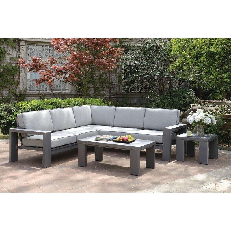Sherrell Patio Sectional Sofa