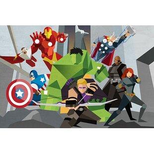 Marvel Comics Avengers Assmeble Geometric Avengers Graphic Art on Canvas  sc 1 st  Wayfair & Marvel Avengers Wall Art | Wayfair