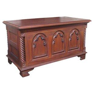 Amazing Mahogany Gothic Wooden Blanket Box