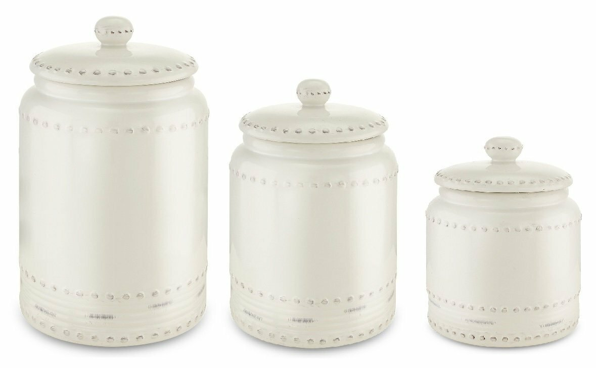 kovot ceramic 3 piece kitchen canister set wayfair default name