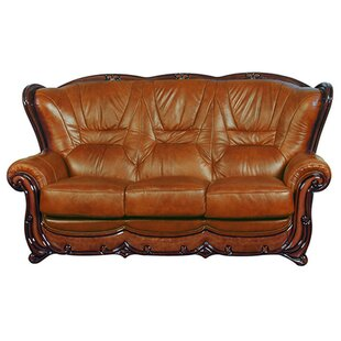 sofa with wood trim wayfair