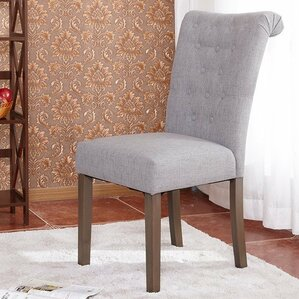 luxurious fabric dining parsons chair set of 2