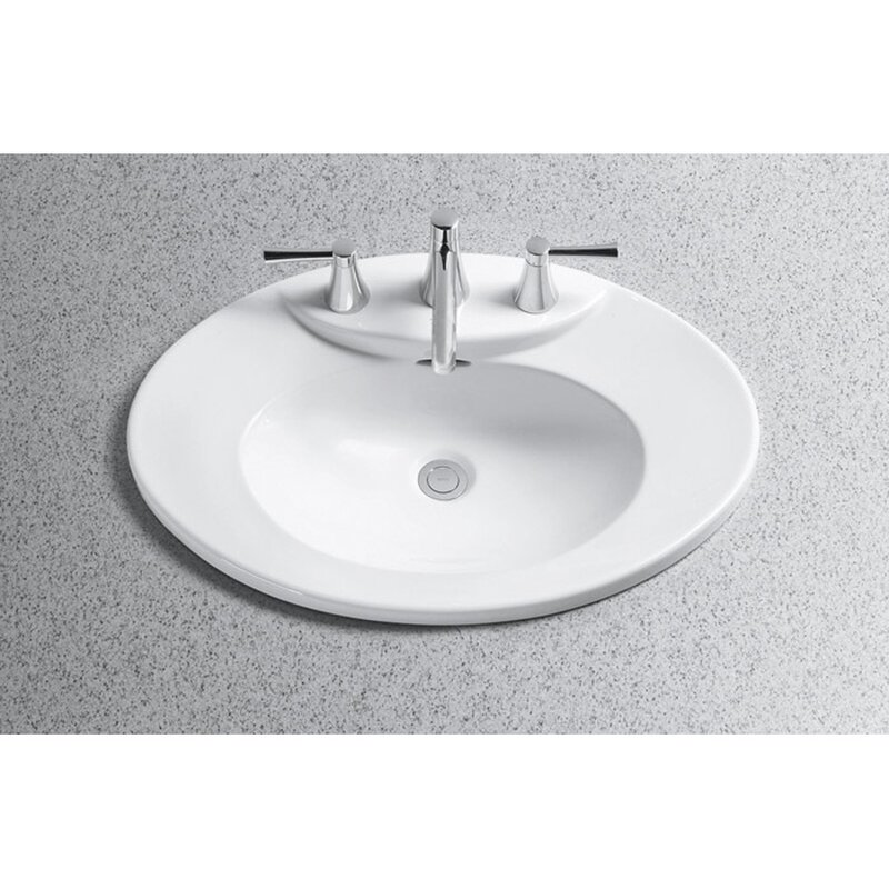 Toto Pacifica Ceramic Oval Drop In Bathroom Sink With Overflow Reviews