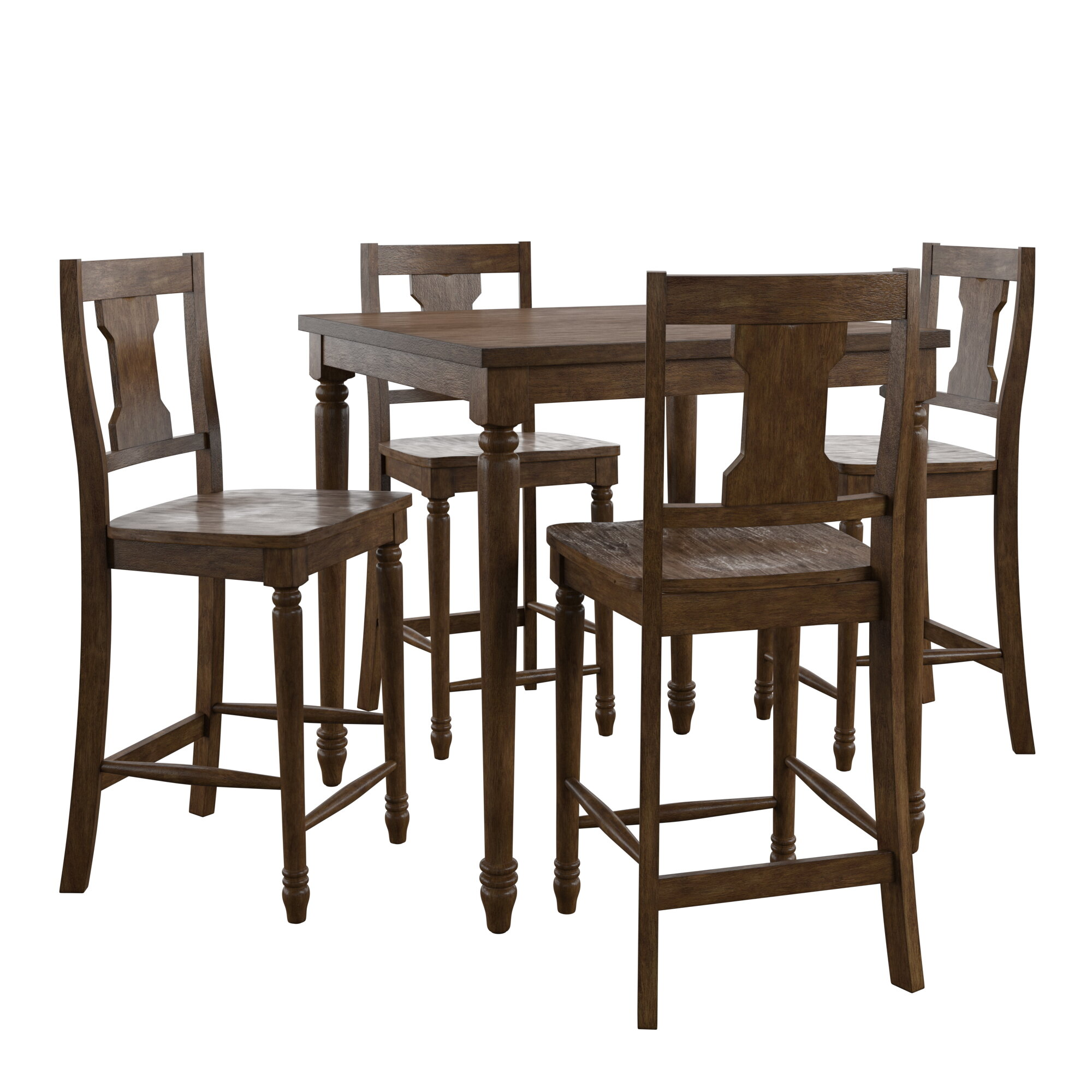Merveilleux Petrucci Reclaimed Wood 5 Piece Pub Table Set