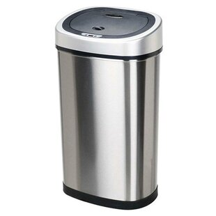Genial Stainless Steel 13.2 Gallon Motion Sensor Trash Can