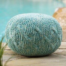 morrow fabric weave pouf ottoman