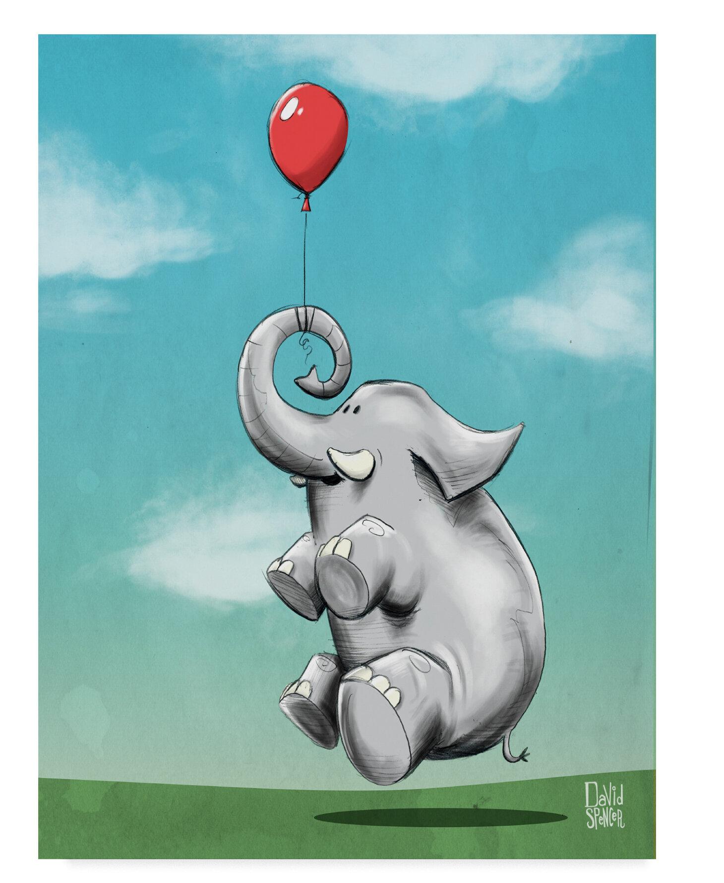 East Urban Home \'Dream Big Elephant\' Acrylic Painting Print on ...