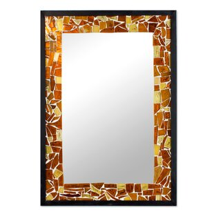 Sun Stained Gl Wall Mirror