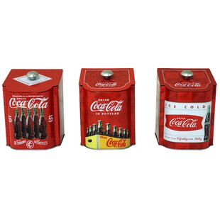 Coca Cola Tin Qt. Kitchen Canister (Set Of 3)