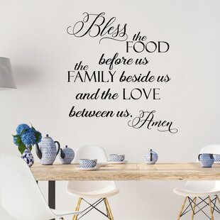 Bless The Food Before Us Family Beside And Love Between Amen Vinyl Wall Decal