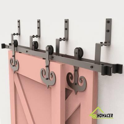 Vancleef Straight Design Standard Double Track Barn Door Hardware