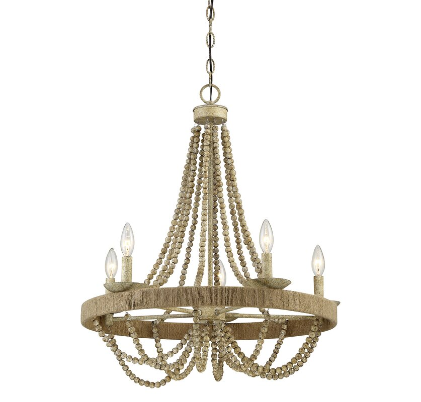 Woolsey 5 light candle style chandelier reviews joss main woolsey 5 light candle style chandelier aloadofball Image collections