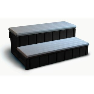 Spa Step With Storage In Gray