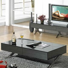 Modern Coffee Table modern glass coffee tables | allmodern