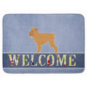 Brussels Griffon Welcome Memory Foam Bath Rug