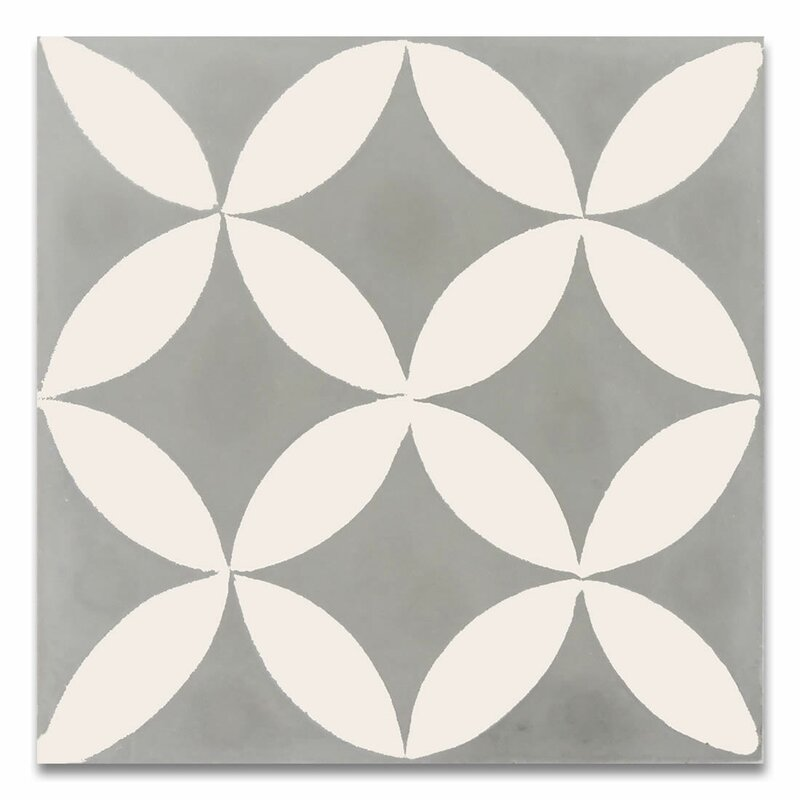 Moroccan Mosaic Tile House Amlo 8 x 8 Handmade Cement Tile in