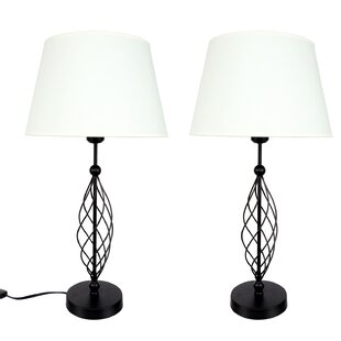 Wire lamps wayfair wire swirl 255 table lamp set of 2 greentooth Gallery