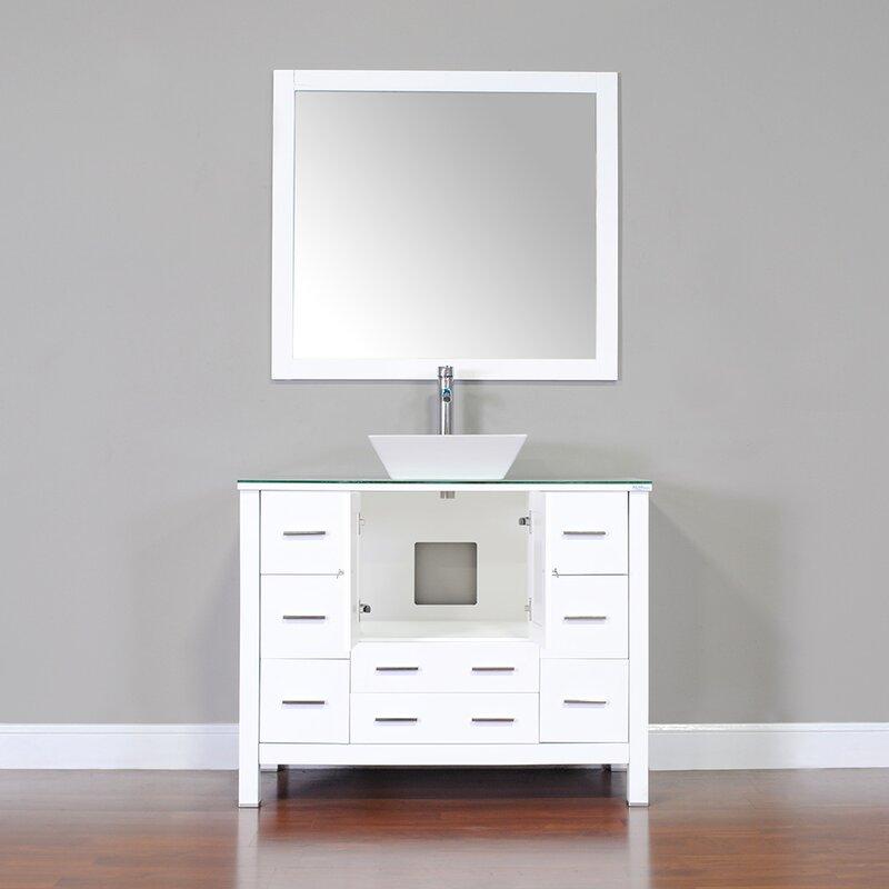 """alya bath leeds 42"""" modern single bathroom vanity set & reviews"""